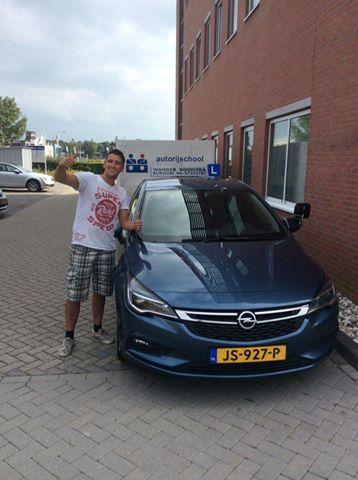 Aldert Messchendorp geslaagd op 16-09-2016 B-E rijbewijs