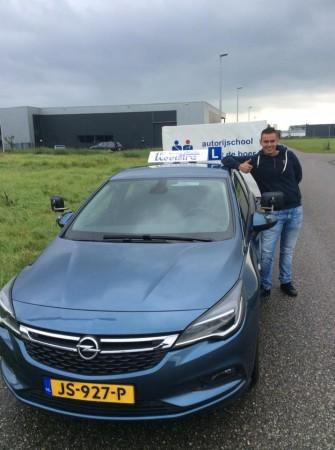 Sander Bijma geslaagd op 5 september 2017